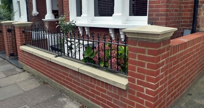 London+front+garden+brick+wall
